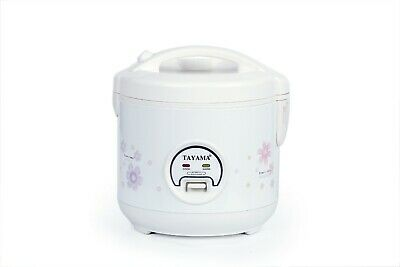 TRC-04 Cool Touch 5-Cup Rice Cooker and Warmer with Steam Basket, White NEW