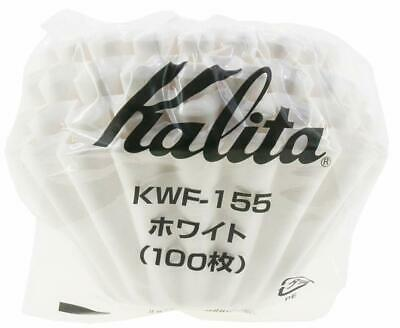 Kalita MADE IN JAPAN Wave Drip Coffee Filter WHITE KWF-155 100 Sheets 1-2 Cups