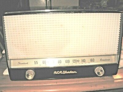 "RCA -Radio /Mid-50,s ""Standard Broadcast"" AM-Model-X-624-BLACK&WHITE-Works Great"