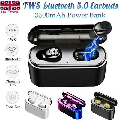 UK Bluetooth 5.0 Headset TWS Wireless Earphones Mini Earbuds Stereo Headphones T