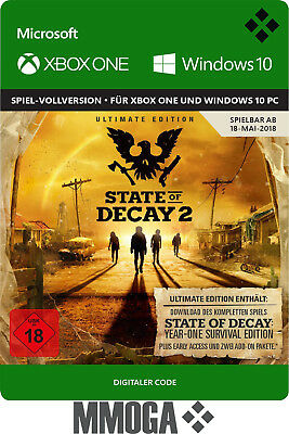 State of Decay 2 Ultimate Edition - Xbox One & Windows 10 PC Spiel Code - DE*