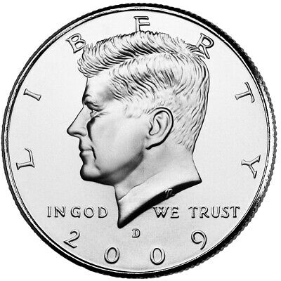 2009 P&D JOHN F. KENNEDY HALF DOLLAR /(2 Coin Set UNCIRCULATED) FROM MINT ROLLS