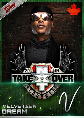Topps SLAM WWE Velveteen Dream GREEN SIGNATURE NXT TakeOver Toronto 2019 250cc