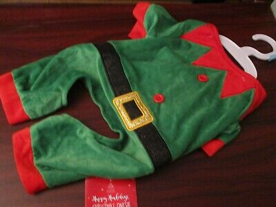 Pet Dog Christmas Elf  Dress Up Suit / Dog Jumper Clothes Small Size (NEW)