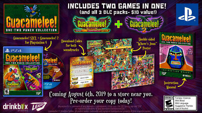 Guacamelee One-Two Punch Collection Launch Edition PlayStation 4, PS4 Brand New