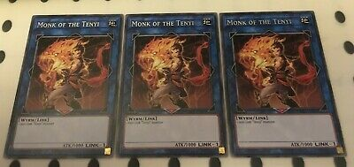 3 x RIRA-EN043 - Monk of the Tenyi Rare 1st Edition YuGiOh NEW