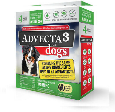 Advecta 3 Flea and Tick Topical Treatment, Control For Dogs,...