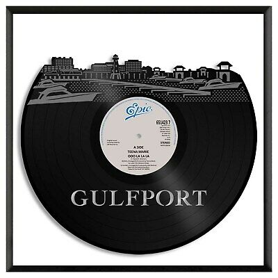 Gulfport MS Vinyl Wall Art Cityscape Personalized Home Office Decoration Framed