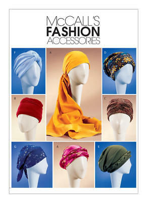 McCall's Sewing Pattern 4116 Misses size S-M-L Headwear Hats Turban Caps Wraps