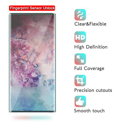 2X Full Cover Screen Protector For Samsung Galaxy Note 10 S10 Plus Hydrogel Film