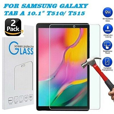 """Tempered Glass Screen Protector For SAMSUNG Galaxy Tab A T510/T515 10.1"""" 2 Pack"""