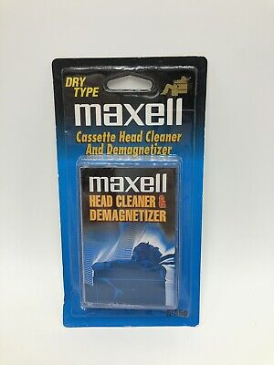 Maxell Cassette Tape Head Cleaner Demagnetizer Dry Type A-450