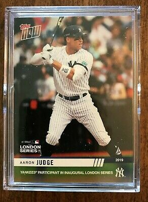 Topps Now 2019 New York Yankees London Series 15 Card Set  - In Hand