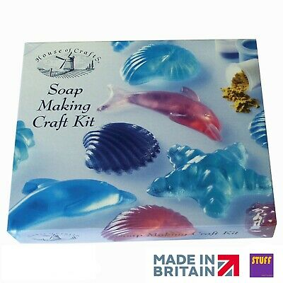 Scented Soap Making Kit Sea Shell Fish Theme Moulds Dye Fragrance Craft Gift