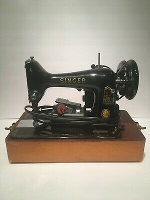 Singer 99k Vintage EM514197 Sewing Machine June 4th 1957 Retro Sew Surge Fabric