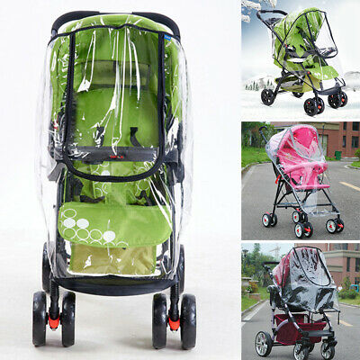 Baby Stroller Accessories Universal Portable Travel Waterproof Rain Cover PVC