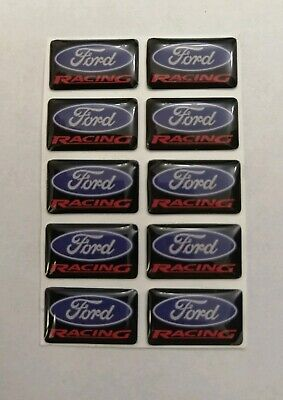 Ford Racing 3D Domed Badge Logo Emblem Sticker Graphic Decal Focus Fiesta St Rs