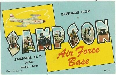 Sampson, NY New York old Large Letter Postcard, Sampson Air Force Base