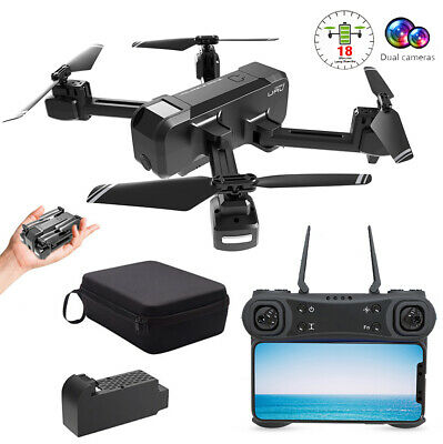 WiFi FPV RC Quadcopter 4K Gimbal Camera Foldable Drone Altitude Hold 6-Axis Gyro