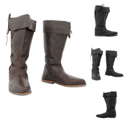 Renaissance Medieval Knight Pirate viking tudor cosplay shoes boots