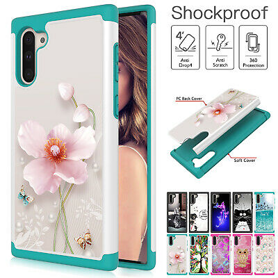 For Samsung Galaxy Note 10 Plus Note10 Hybrid Rubber Phone Case Shockproof Cover