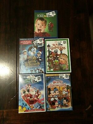 Christmas BluRay DVD Digital Family Kids Movies Disney Mickey's Muppets Carol