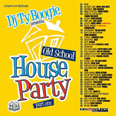 DJ TY BOOGIE - OLD SCHOOL HOUSE PARTY PT. 1 (MIX CD) CLASSIC 80'S R&B and FUNK