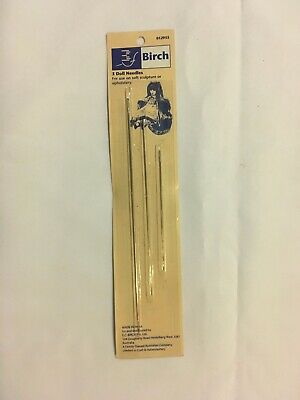 Birch 3 Dolls needles. assorted sizes. For soft sculpture or upholstery. unused