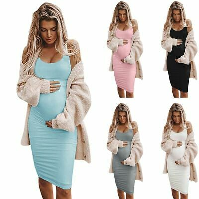 Sleeveless Maternity Dress Sexy Casual Pregnancy Clothes For Women Comfy Dresses