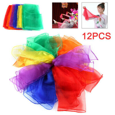 12Pack Dance Autism Sensory Toys Juggling Scarves Kids Adults Party Gift NP2