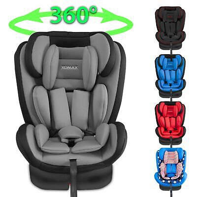 ISOFIX CAR CHILD SEAT 0-36kg GROUP 0+1+2+3 ECE CAR SEAT 360° ROTATING VER.FARBEN