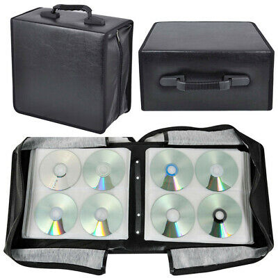 400CD DVD Discs - Storage Wallet Holder Carry Case Sleeves Box Organizer+Handle