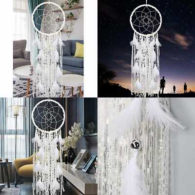 Extra LARGE Dream Catcher Kids Wall Hanging Decoration Handmade WHITE Feather Bo