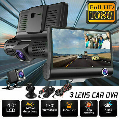 "4""Dual Lens 1080P Car DVR Dash Cam Front and Rear Video Recorder Camera G-sensor"