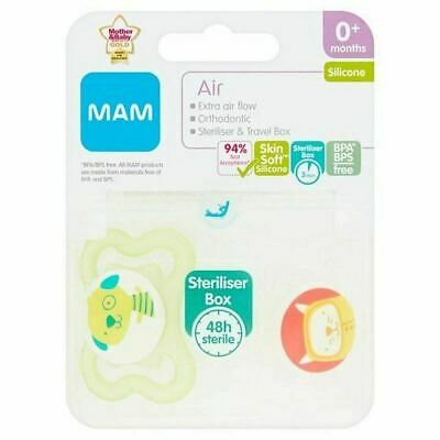 MAM AIR 0+ Soother - Green Dog/Cat