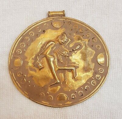 Wonderful Roman Gold on Silver Antique Roman Empire Worrier King Huge Pendant