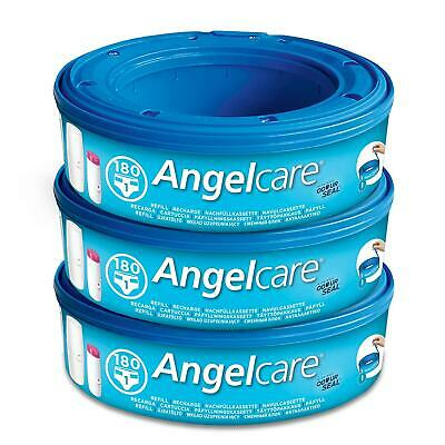 Angelcare Baby Nappy Bin Disposal Bag System Refill Cassettes Wrappers 3 Pack