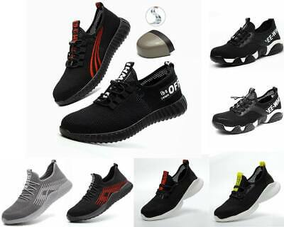 Lightweight Steel Toe Cap Safety Shoes Mens Womens Work Boots Hiking Trainers