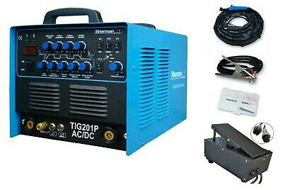 Sherman Inverter Welder TIG 201P AC/DC MMA 200A + Foot pedal controller 230AC
