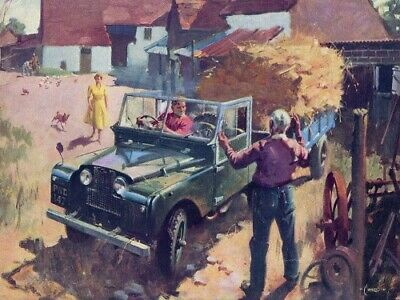 LAND ROVER 1954 SERIES-I /'107/' RETRO POSTER PRINT CLASSIC ADVERT A3 !!!