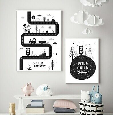Boys Nursery Prints x 2 / Children's Wall Art / Bedroom / Nursery Picture Print