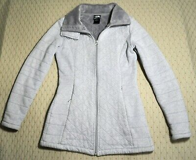 1f65356f6 THE NORTH FACE Womens XS Light Grey Caroluna Quilted Fleece-Lined Coat  Jacket XS