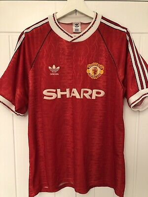promo code 44ddd 7aba4 MANCHESTER UNITED 1990/1992 Home Football Shirt Jersey Adidas Vintage