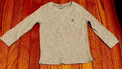 baby GAP Boys Thermal Gray Long Sleeve Top Size 2T Toddler  - EUC
