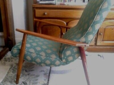 Antique Upholstered Fabric Fireside Chair
