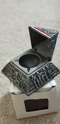 10cm Metal 3D Model Egyptian Pyramid Statue Souvenir Gift Home Office Decor