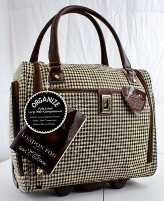 "London Fog Oxford Hyperlite 15"" Carry On Under Seat Bag Plaid"