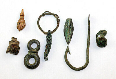 *Sc* Superb Selection Of 5 Roman Silver And Bronze Antiquities!
