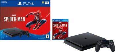 New Sealed Sony PS4 PlayStation 4 1TB Console Marvel's Spider-Man Bundle - Black