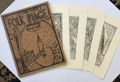 """Howard Finster's  """"Four Silk Screens with Book Cover"""""""